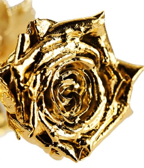 vergoldete rose degusa 40cm